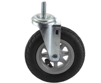 """#60- 6"""" solid rubber roller with threaded insert"""