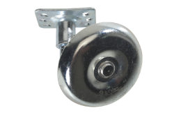 """3"""" steel wheel with mounting bracket Mounting bracket dimensions: 2-5/8"""" x 1-11/16"""" Hardware not included Fits model MC & HSPJR Universal wheel"""